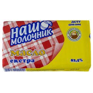 ТМ Наш молочник, Масло сладкосливочное, экстра, 82,5%, 200 г