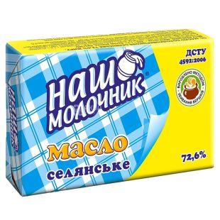 ТМ Наш молочник, Масло селянское, 72,6%, 200 г