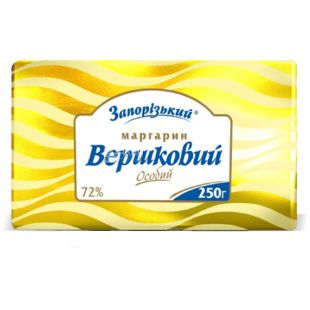 Запорожский маргарин сливочный особый, 72%, 250г