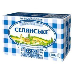 Селянское масло сладкосливочное, 72,5%, 200г