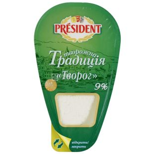 President Творожная традиция творог 9%, 250г