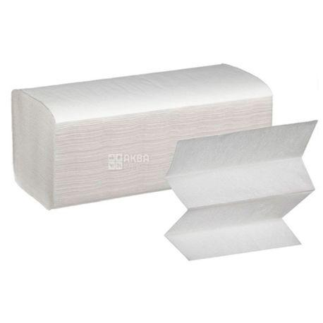 Fesko, 200 листов, Полотенца бумажные Феско, 2-х слойные Z-сложения, белые