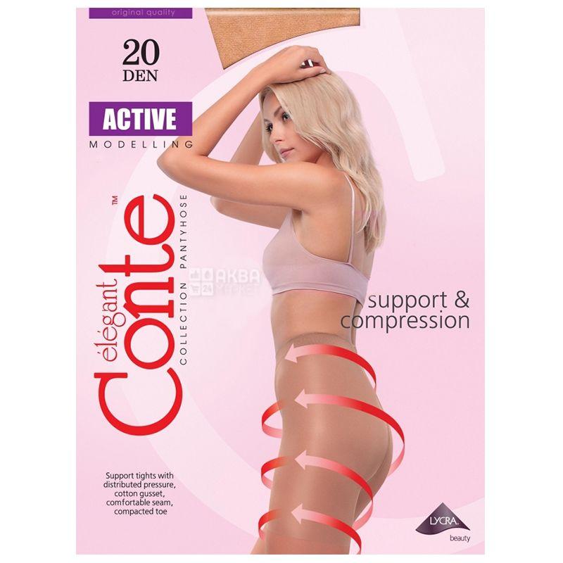 Conte Active, Колготи жіночі, тілесні, 3 розмір, 20 ден