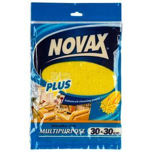 Novax Plus, Серветка універсальна, 30x30 см, мікрофібра
