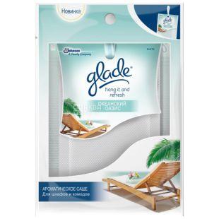 Glade Hang it and Refresh, Саше ароматическое, Океанский оазис, 8 г