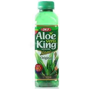 OKF Aloe Vera King Original Напій соковий з алое, негазований, 0,5 л, Aloe Vera King Original, ПЕТ
