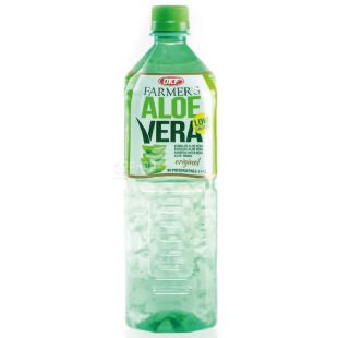 Напій на основі соку алое, негазований, Farmers Aloe, 1 л, ТМ OKF