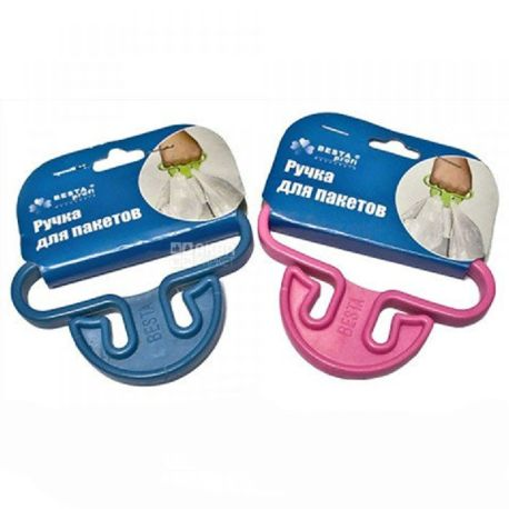 KrionPlus, Ручка для пакетів пластикова, асорті, 1 шт.