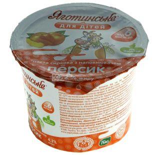 Яготинське, Паста творожная для детей, персик, 4,2%, 100 г