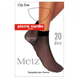 Pierre Cardin Metz, Носки женские черные с резинкой, универсальный размер, 20 ден