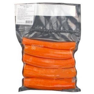Морковь очищенная мытая, 500 г, вакуумная упаковка