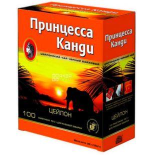 Princess Kandy Medium, black tea in a cardboard box, 100 pack