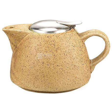 Fissman, Чайник заварочный с ситечком, песочный, 1 л
