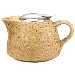 Fissman, Teapot with strainer, sand, 1 l