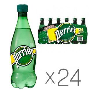 Perrier, 0,5 л, Упаковка 24 шт., Перье, Минеральная газированная вода, ПЭТ