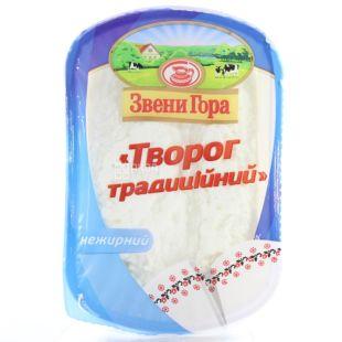 Звени Гора, Творог кисломолочный традиционный, 0%, 400 г