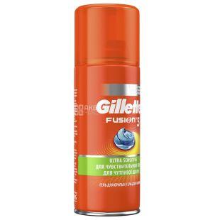 Gillette Fusion5 Ultra Sensitive, Гель для бритья для чувствительной кожи, 75 мл