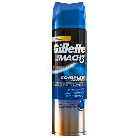 Gillette Mach3 Extra Comfort, Гель для бритья с успокаивающим эффектом, 200 мл
