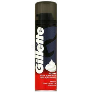 Gillette Foam Regular, Пена для бритья классическая, 200 мл