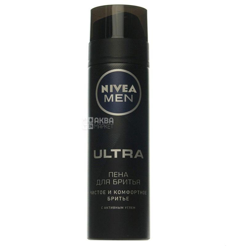 Nivea Men Ultra, Пена для бритья для всех типов кожи, 200 мл