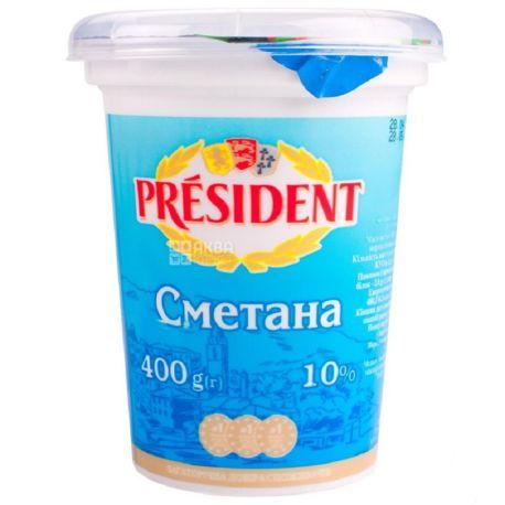 President, Сметана, 10%, 350 г