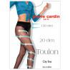 Pierre Cardin Toulon, Колготки жіночі сіро-чорні, 2 розмір, 20 ден