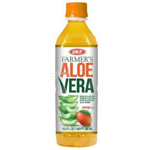 Напій соковий, смак манго, негазований, Farmers Aloe Mango, 0,5 л, ТМ OKF