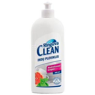 Ringuva Clean, Засіб для миття посуду з ароматом м'яти і грейпфрута, 500 мл
