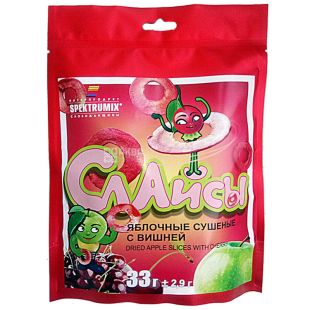 Slices apple cherries, dried with taste, 33 g, TM Spektrumix