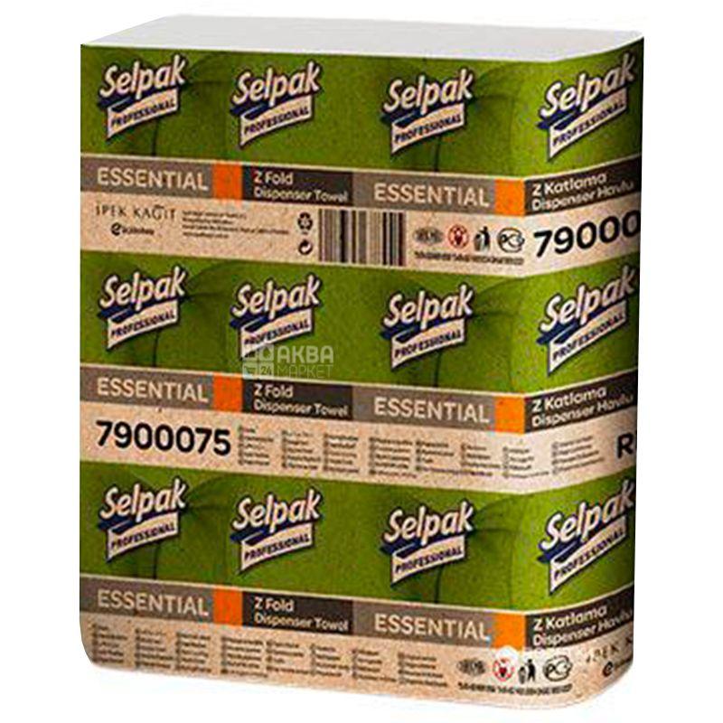 Selpak Pro Essential, Бумажные полотенца однослойные, 250 листов