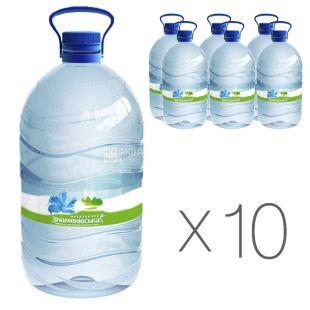 Знаменівська, 5 л, упаковка 10 шт., Вода мінеральна негазована, ПЕТ