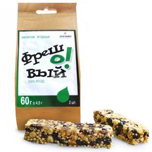Cereal bar, Freshovy, 60 g, TM Spektrumix