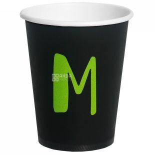 Стакан бумажный M черный 250 мл, 50 шт., D75
