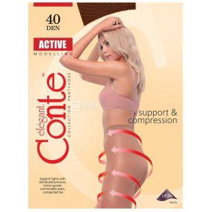 Conte Active, Колготки женские мокко, 4 размер, 40 ден
