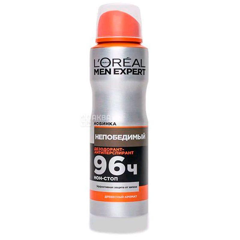 L'Oreal Men Expert Непобедимый, Антиперспирант мужской,  150 мл