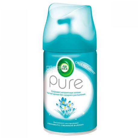 Airwick Pure, Освежитель воздуха Весеннее настроение, сменный баллон, 250 мл