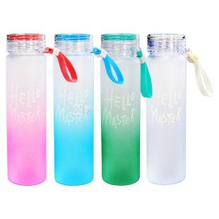 Бутылка для воды Мастер, пластиковая, 550 мл, ассорти, ТМ Olens