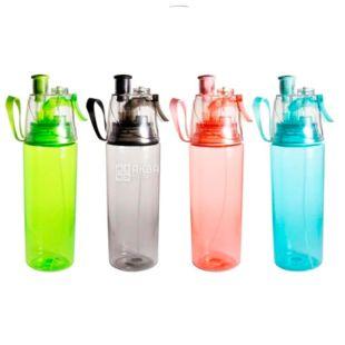 Пляшка для води з дозатором Фан-фан, 700 мл, асорті, ТМ Olens