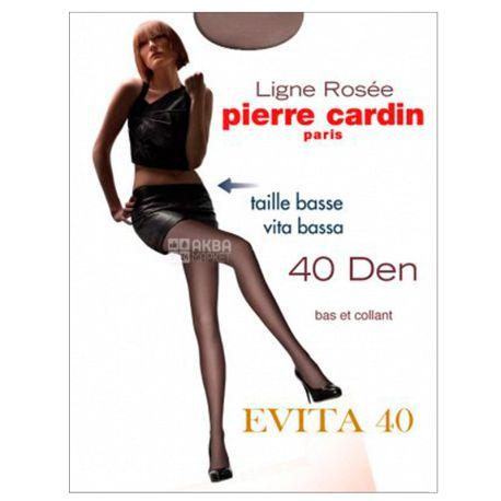 Pierre Cardin Evita, Колготки женские серо-коричневые, 4 размер, 40 ден