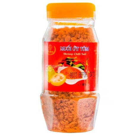 Beach Chi, Salt with chopped shrimp and chili, 80 g