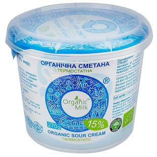 Organic Milk Сметана, 15%, 270 г