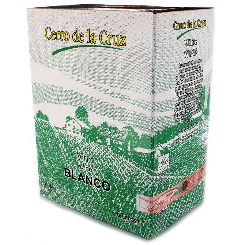 Cerrо de la Cruz Blanсo, Вино белое сухое, 11%, 5 л