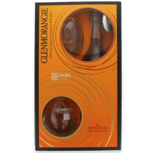 Glenmorangie Original, Set of whiskey 10 years of aging with 2 glasses, 40%, 0.7 l