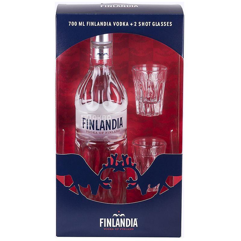 Finlandia, Водка, 40%, 700 мл, с 2 рюмками