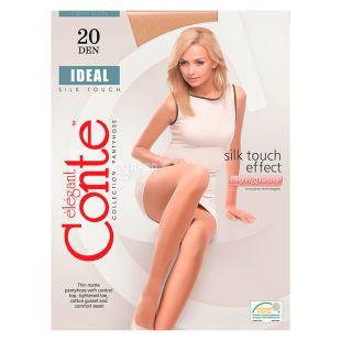 Conte Ideal, Колготки жіночі бежеві, 3 розмір, 20 ден