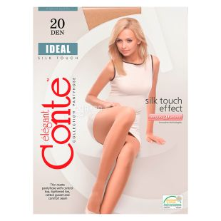 Conte Ideal, Колготки жіночі бежеві, 4 розмір, 20 ден