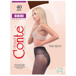 Conte Bikini, Колготи жіночі мокка, розмір 2, 40 ден