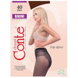 Conte Bikini, Women's tights mocha, size 2, 40 den