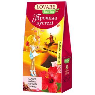 Lovare, Роза пустыни, 20 пак., Чай Ловаре, Цветочный с лепестками роз