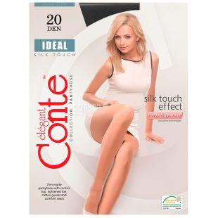 Conte Ideal, Колготки жіночі чорні, 2 розмір, 20 ден